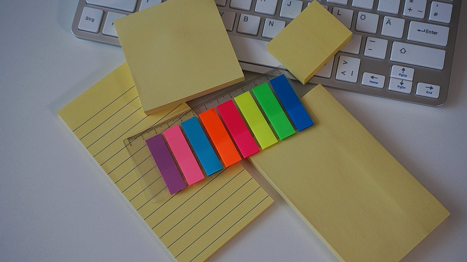 Different types of Post-it Notes