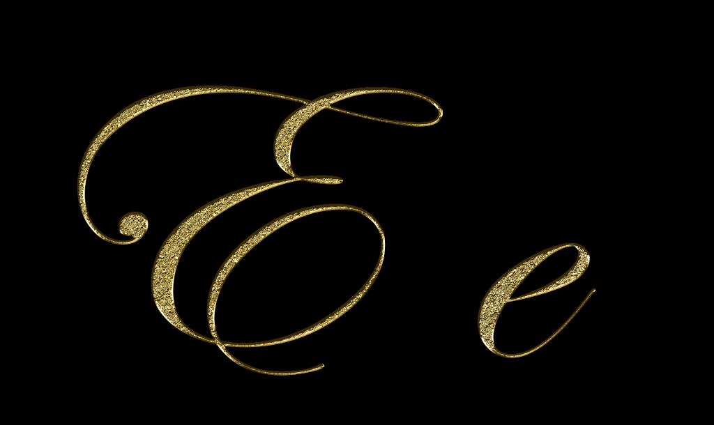 english alphabet e