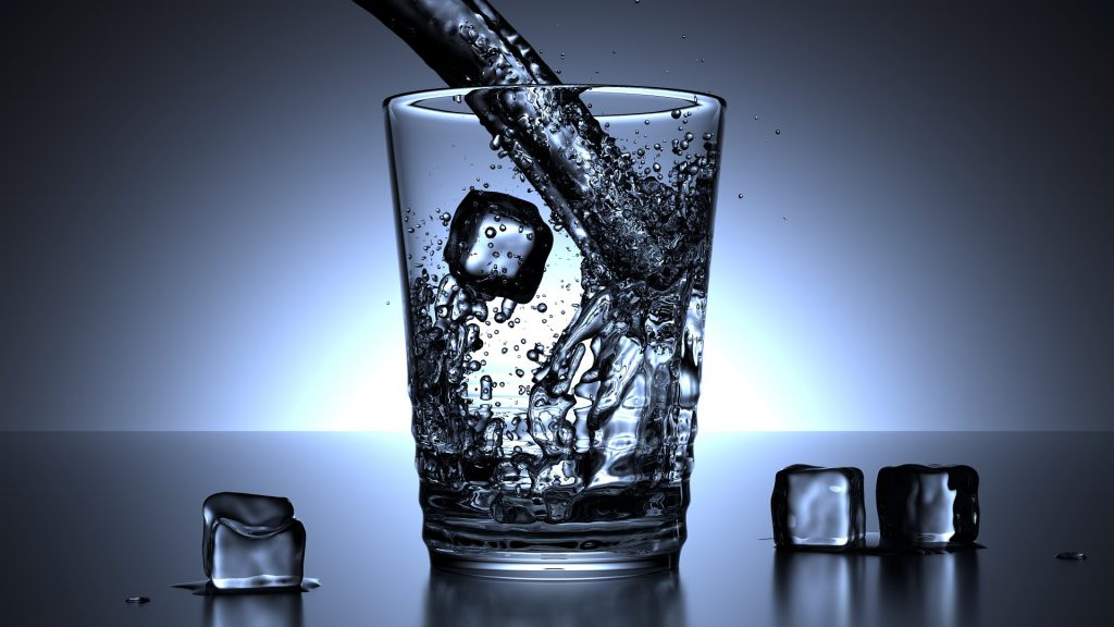 Water in a glass